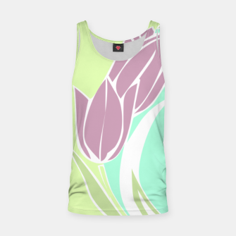 Thumbnail image of Tulips, botanical spring print Tank Top, Live Heroes
