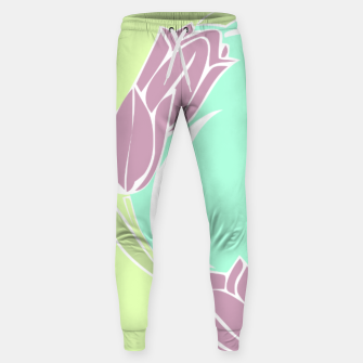 Thumbnail image of Tulips, botanical spring print Sweatpants, Live Heroes