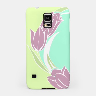 Thumbnail image of Tulips, botanical spring print Samsung Case, Live Heroes