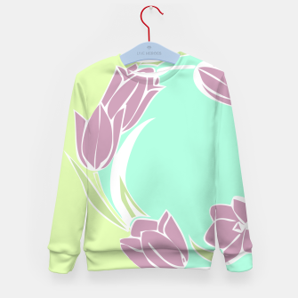 Thumbnail image of Tulips, botanical spring print Kid's sweater, Live Heroes