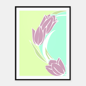 Thumbnail image of Tulips, botanical spring print Framed poster, Live Heroes