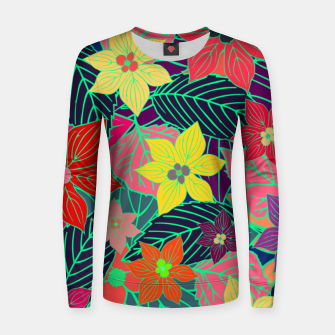Imaginary garden, digital botanical print  Women sweater miniature