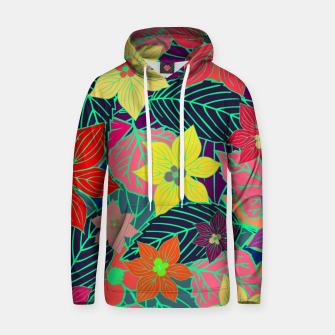 Imaginary garden, digital botanical print  Hoodie miniature