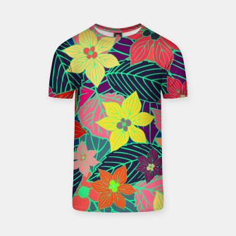 Imaginary garden, digital botanical print  T-shirt miniature