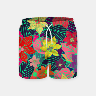 Imaginary garden, digital botanical print  Swim Shorts miniature