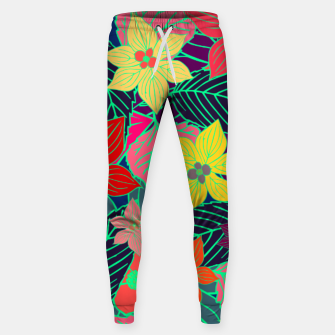 Imaginary garden, digital botanical print  Sweatpants miniature
