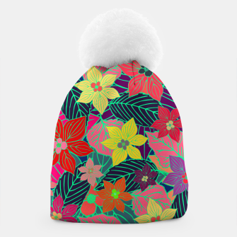 Imaginary garden, digital botanical print  Beanie miniature