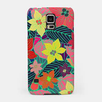 Imaginary garden, digital botanical print  Samsung Case miniature