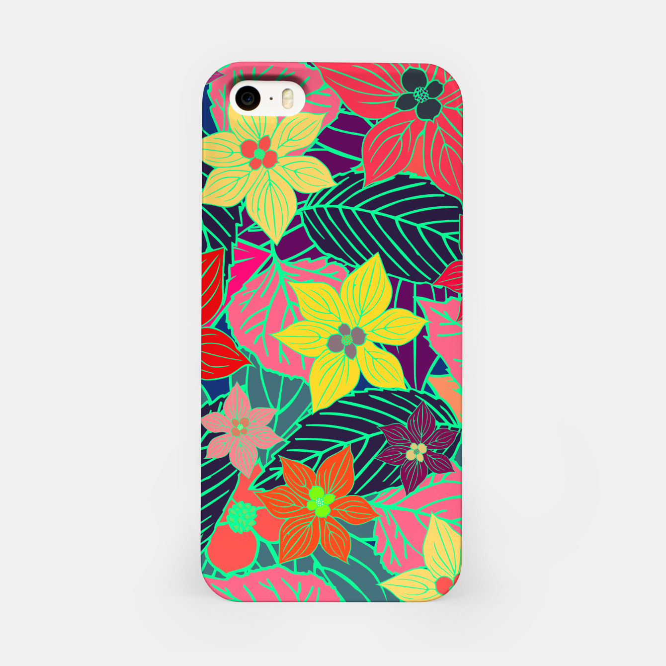 Image de Imaginary garden, digital botanical print  iPhone Case - Live Heroes