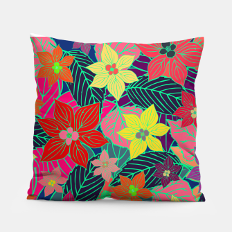 Imaginary garden, digital botanical print  Pillow miniature