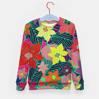 Imaginary garden, digital botanical print  Kid's sweater miniature