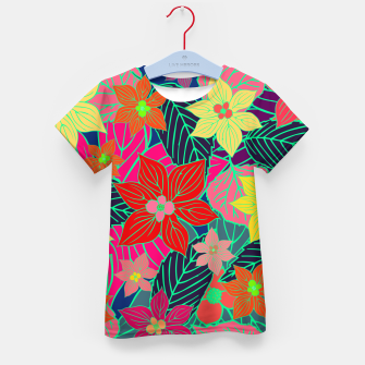 Imaginary garden, digital botanical print  Kid's t-shirt miniature