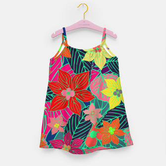 Imaginary garden, digital botanical print  Girl's dress miniature