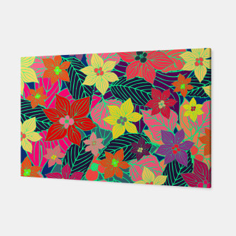 Imaginary garden, digital botanical print  Canvas miniature
