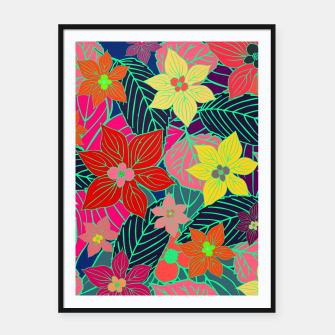 Imaginary garden, digital botanical print  Framed poster miniature