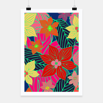 Imaginary garden, digital botanical print  Poster miniature
