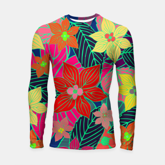 Imaginary garden, digital botanical print  Longsleeve rashguard  miniature