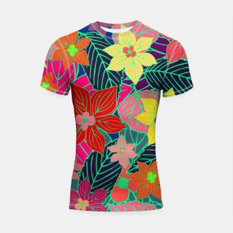 Imaginary garden, digital botanical print  Shortsleeve rashguard miniature