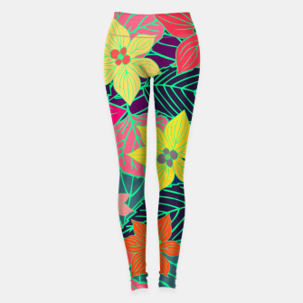 Imaginary garden, digital botanical print  Leggings miniature