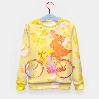 Miniaturka Woman Summer Bicycle Flowers Pattern Illustration Kindersweatshirt, Live Heroes