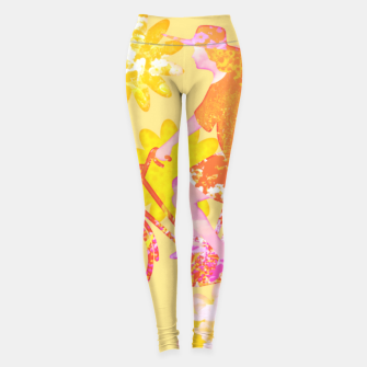 Miniatur Woman Summer Bicycle Flowers Pattern Illustration Leggings, Live Heroes