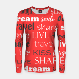 Live, love, laugh, dream, share, travel, kiss, smile Women sweater miniature