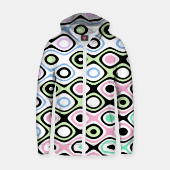 Thumbnail image of Asymmetry collection: contrasts Zip up hoodie, Live Heroes