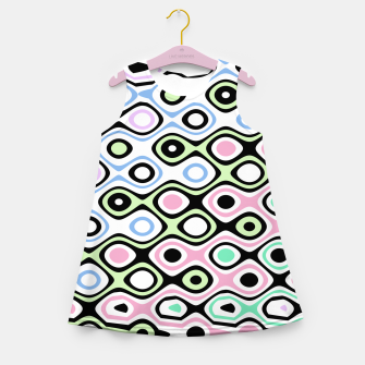 Asymmetry collection: contrasts Girl's summer dress miniature