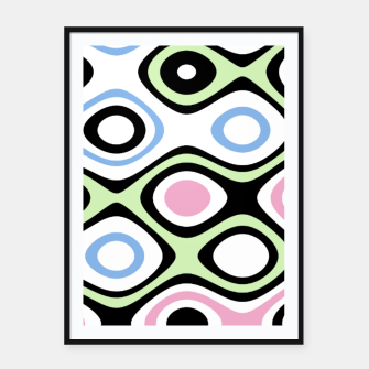 Thumbnail image of Asymmetry collection: contrasts Framed poster, Live Heroes