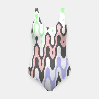 Asymmetry collection: waves Swimsuit miniature