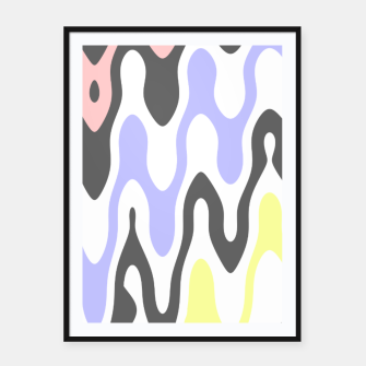 Asymmetry collection: waves Framed poster miniature