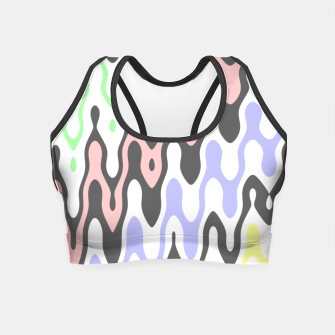 Asymmetry collection: waves Crop Top miniature