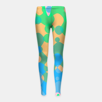 Asymmetry collection: imagination  Girl's leggings miniature