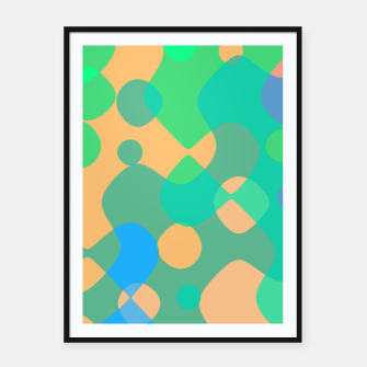Asymmetry collection: imagination  Framed poster miniature