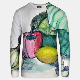 Miniatur vegetables watercolor Bluza unisex, Live Heroes
