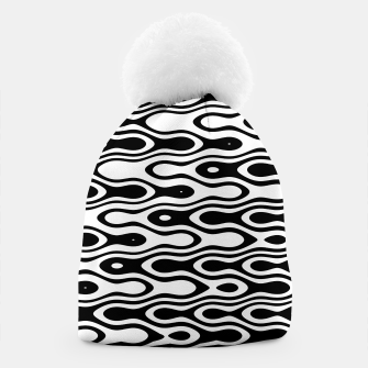 Asymmetry collection: black and white waves Beanie miniature