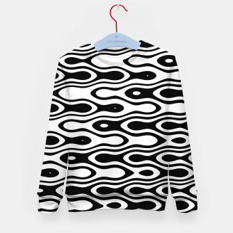 Asymmetry collection: black and white waves Kid's sweater miniature