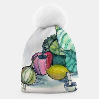 Miniatur vegetables watercolor Czapka, Live Heroes
