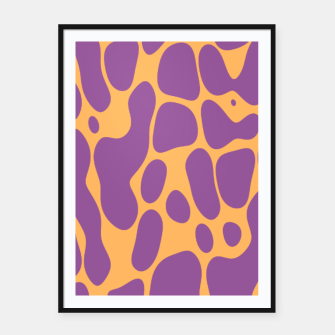 Asymmetry collection: the animal  Framed poster miniature