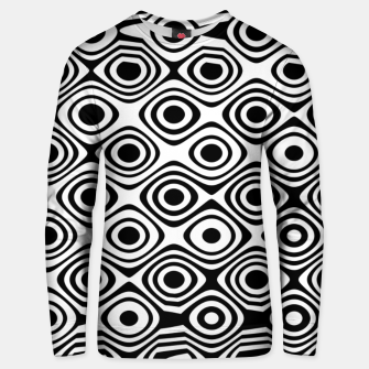 Asymmetry collection: abstract black and white circles Unisex sweater miniature