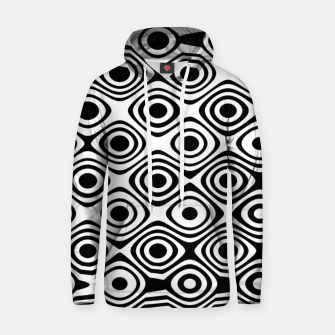 Asymmetry collection: abstract black and white circles Hoodie thumbnail image