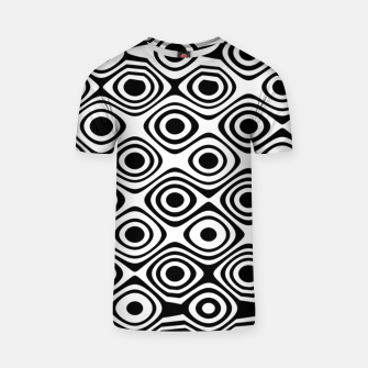 Asymmetry collection: abstract black and white circles T-shirt miniature