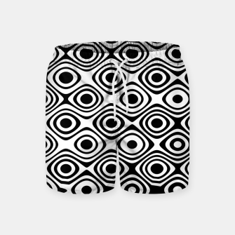 Asymmetry collection: abstract black and white circles Swim Shorts miniature