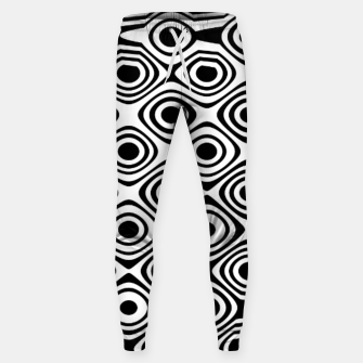 Asymmetry collection: abstract black and white circles Sweatpants miniature
