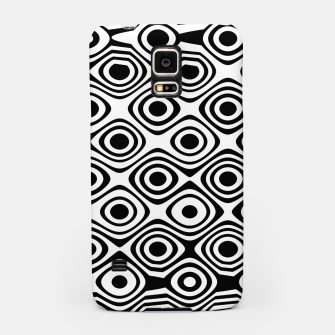 Asymmetry collection: abstract black and white circles Samsung Case miniature