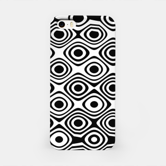 Asymmetry collection: abstract black and white circles iPhone Case miniature