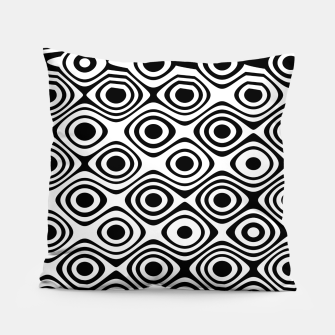 Asymmetry collection: abstract black and white circles Pillow thumbnail image