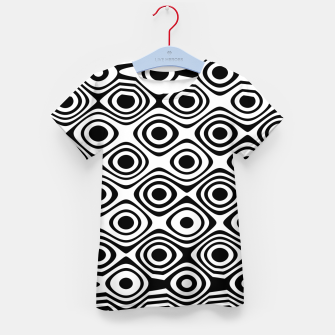 Miniaturka Asymmetry collection: abstract black and white circles Kid's t-shirt, Live Heroes