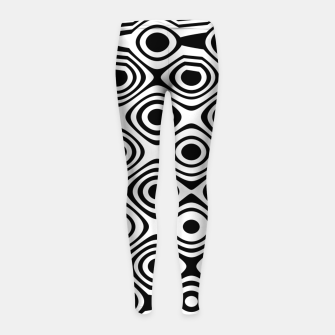 Asymmetry collection: abstract black and white circles Girl's leggings thumbnail image
