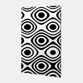 Asymmetry collection: abstract black and white circles Canvas miniature